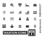 tax icons | Shutterstock .eps vector #588040247