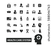 health care system icons | Shutterstock .eps vector #588046763
