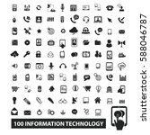 information technology icons | Shutterstock .eps vector #588046787