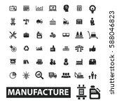 manufacture icons  | Shutterstock .eps vector #588046823