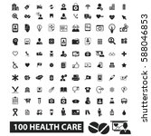 health care icons | Shutterstock .eps vector #588046853