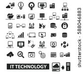 it technology icons | Shutterstock .eps vector #588046883