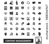 content management icons  | Shutterstock .eps vector #588046967
