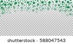 vector four leaf clover... | Shutterstock .eps vector #588047543