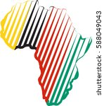 africa map silhouette icon... | Shutterstock .eps vector #588049043
