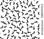black and white retro pattern... | Shutterstock .eps vector #588054413