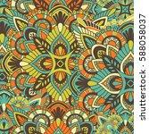 mandala vector ornament.... | Shutterstock .eps vector #588058037