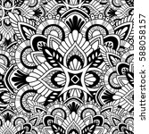 mandala vector ornament.... | Shutterstock .eps vector #588058157