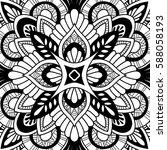 mandala vector ornament.... | Shutterstock .eps vector #588058193