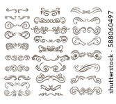 vintage elements for your... | Shutterstock .eps vector #588060497