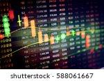 fintech investment financial... | Shutterstock . vector #588061667