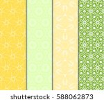 set of modern floral pattern of ... | Shutterstock .eps vector #588062873