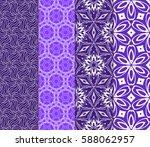 seamless patterns set. vintage... | Shutterstock .eps vector #588062957