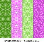 set of ornamental flower design.... | Shutterstock .eps vector #588063113