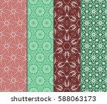 set of decorative geometric... | Shutterstock .eps vector #588063173