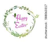 a vector illustration  a happy... | Shutterstock .eps vector #588063317