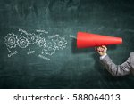 make your announcement    .... | Shutterstock . vector #588064013