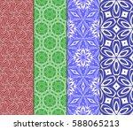 set of romantic geometric... | Shutterstock .eps vector #588065213