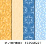 set of romantic geometric... | Shutterstock .eps vector #588065297