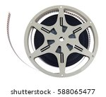 vintage 1940s home movie reel.... | Shutterstock . vector #588065477