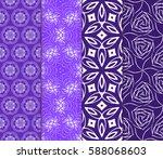 seamless set floral pattern.... | Shutterstock .eps vector #588068603
