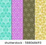 set of decorative geometric... | Shutterstock .eps vector #588068693