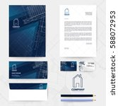 corporate identity template... | Shutterstock .eps vector #588072953