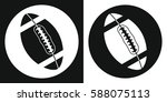 rugby ball icon. silhouette... | Shutterstock .eps vector #588075113