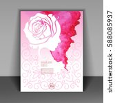 happy women's day greeting card ... | Shutterstock .eps vector #588085937