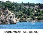 greek island of corfu.... | Shutterstock . vector #588108587