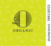 o letter. o monogram. organic... | Shutterstock .eps vector #588118523