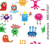 cute seamless pattern with a... | Shutterstock .eps vector #588119267