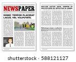 vintage newspaper journal... | Shutterstock .eps vector #588121127