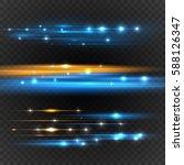 lens flares with streaking... | Shutterstock .eps vector #588126347