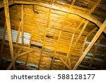 Very Old Barn Interior. Close...
