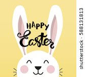 typographic easter poster with... | Shutterstock .eps vector #588131813