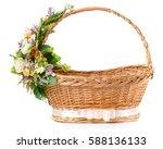 Decorative Easter Basket On A...