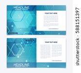 templates for square brochure.... | Shutterstock .eps vector #588151397