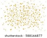 vector golden confetti splash... | Shutterstock .eps vector #588166877