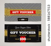 gift voucher template with... | Shutterstock .eps vector #588167513