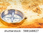 old paper map with an ancient... | Shutterstock . vector #588168827