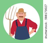 farmer  logo  icon  symbol.... | Shutterstock .eps vector #588173027