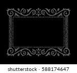ornamental gray frame   Shutterstock .eps vector #588174647