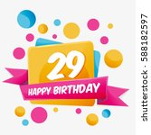 Happy Birthday Vector Card 29...