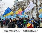 kyiv  ukraine   february 26 ... | Shutterstock . vector #588188987