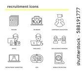 recruitment icons set  resume ... | Shutterstock .eps vector #588191777