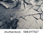 abstract 3d rendering of... | Shutterstock . vector #588197567