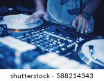 moscow 1 may 2016 club dj... | Shutterstock . vector #588214343