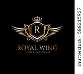 royal wing logo  | Shutterstock .eps vector #588215927