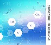 scientific hexagonal chemistry... | Shutterstock .eps vector #588230087